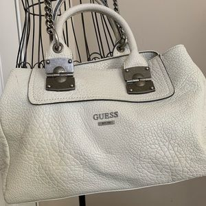 White Leather Guess Purse